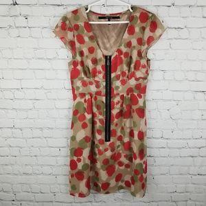 MAC & JAC   zipper front cap sleeve flowy dress